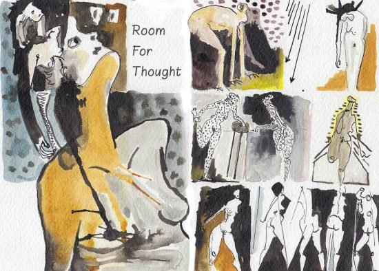 Room for Thought, detail, 2012, ink on paper