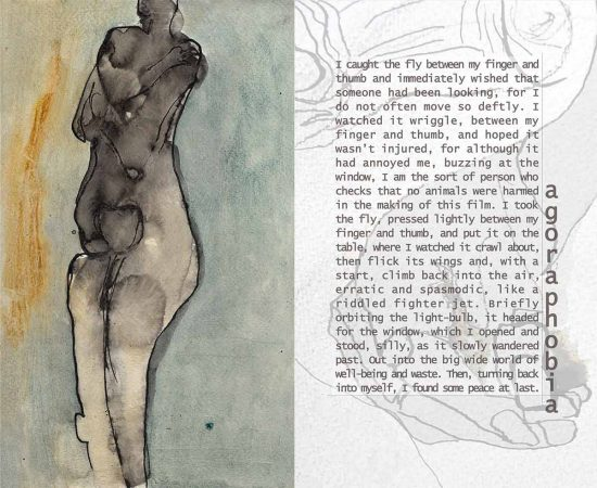 Agoraphobia, 2011, oil on paper, flash fiction