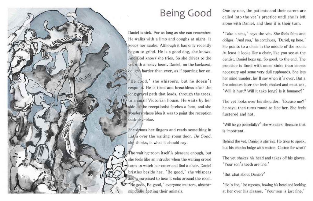 Being Good, 2013, digital art and flash fiction