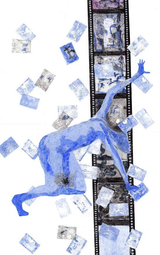 Falling of the Ladder, 2017, monoprint