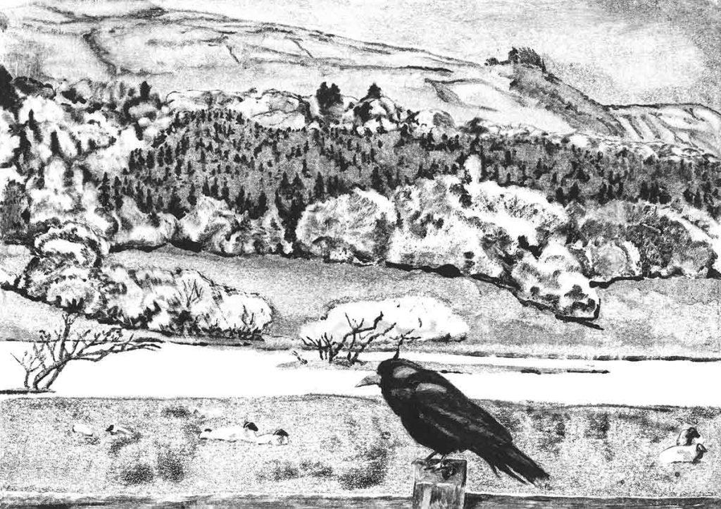 Glencar Valley, 2014, monoprint