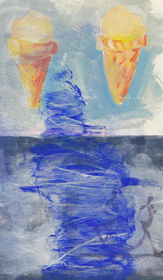 Icecream for the Crow,, 2015, monoprint