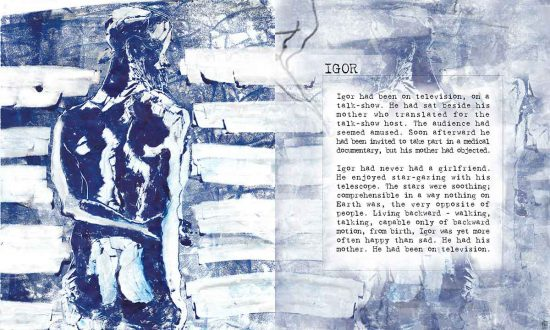 Igor, 2012, digital art, flash fiction