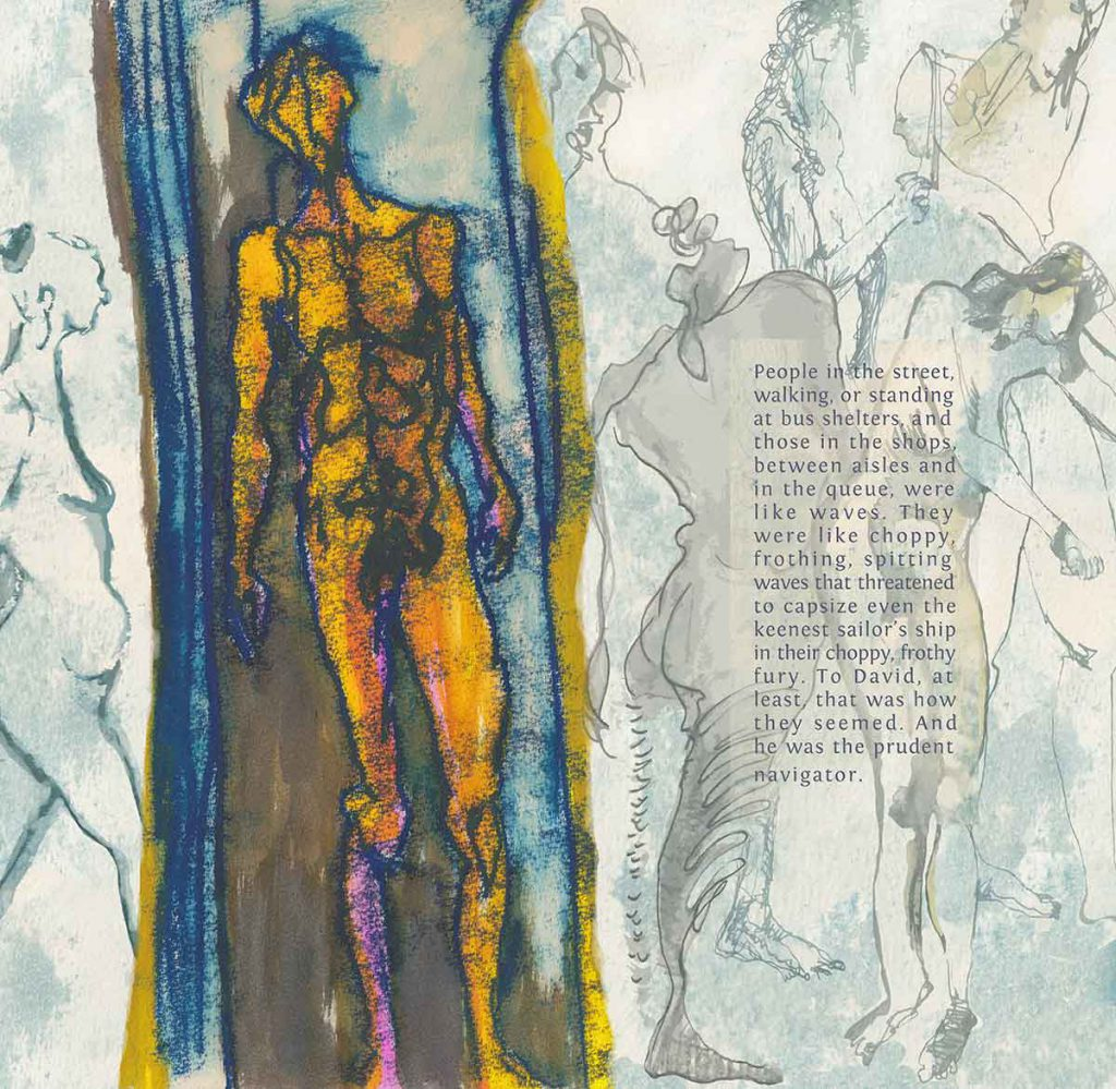 King David, 2013, digital art, flash fiction
