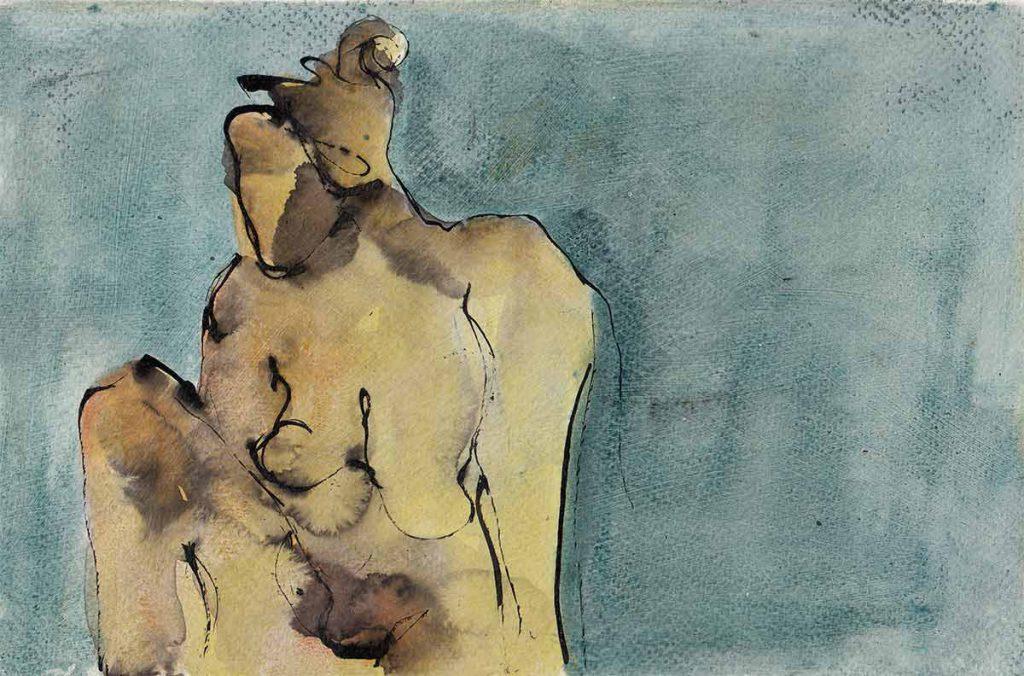 Mirror, 2010, oil on paper