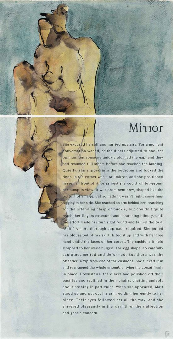 Mirror, 2012, mixed media, flash fiction