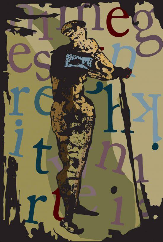 Supporting Herself, 2014, digital art